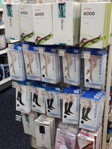 UFS racks showing Venosan Compression stockings